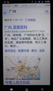 中国語表示の検索結果