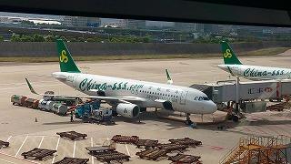 春秋航空のA320(上海浦東空港)