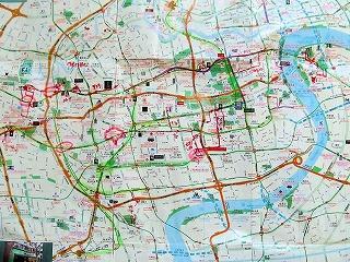 上海市中心部地図塗りつぶし