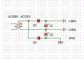 倍電圧整流回路