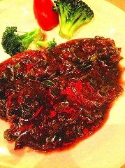 中華風ソースのビーフステーキ