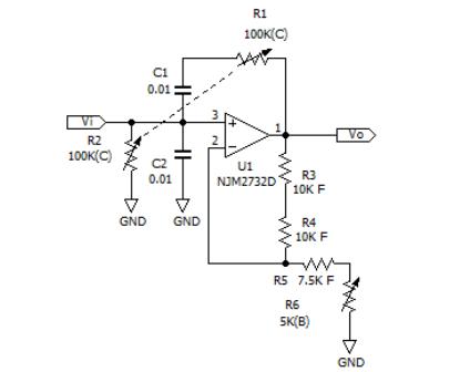 ウィーンブリッジ発振回路