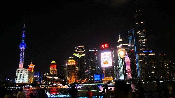 上海 外灘で見る夜景