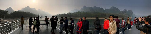 漓江下りのパノラマ
