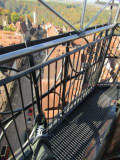 塔頂部の回廊の写真