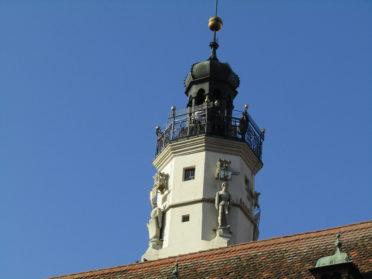市庁舎の塔の写真