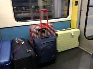車内荷物置き場の写真