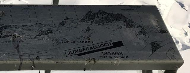 木製山案内板の写真