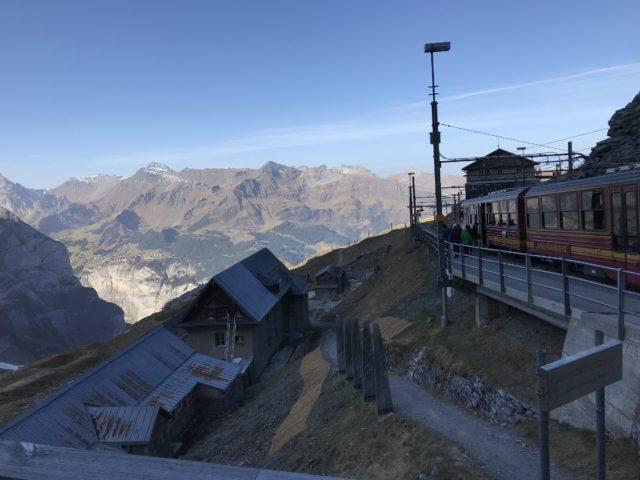 アイガーグレッチャー駅からの景色の写真