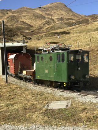 緑の機関車の写真