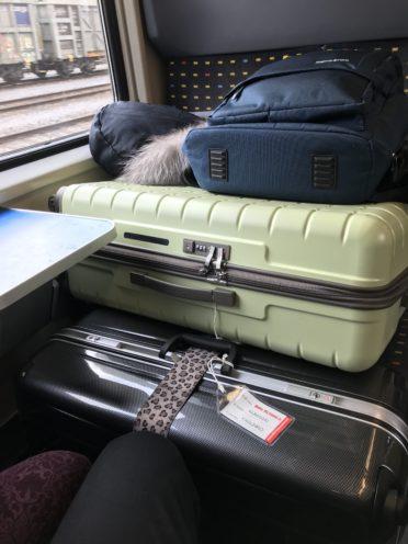 荷物の置き方の写真