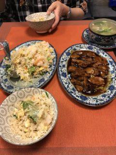 中華の夕食の写真