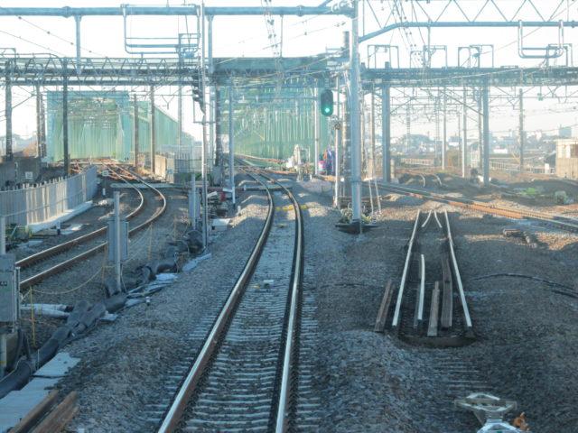 常磐線利根川橋梁架け替えの写真