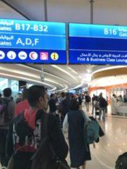 ドバイ空港内の写真