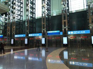 ドバイ空港エレベータの写真
