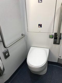 列車のトイレの写真
