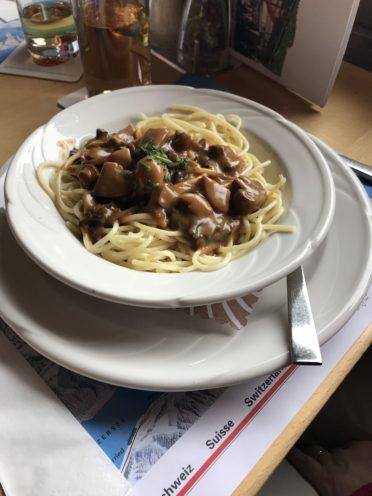 キノコのスパゲティの写真