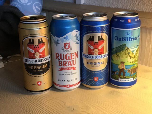 缶ビール4種の写真