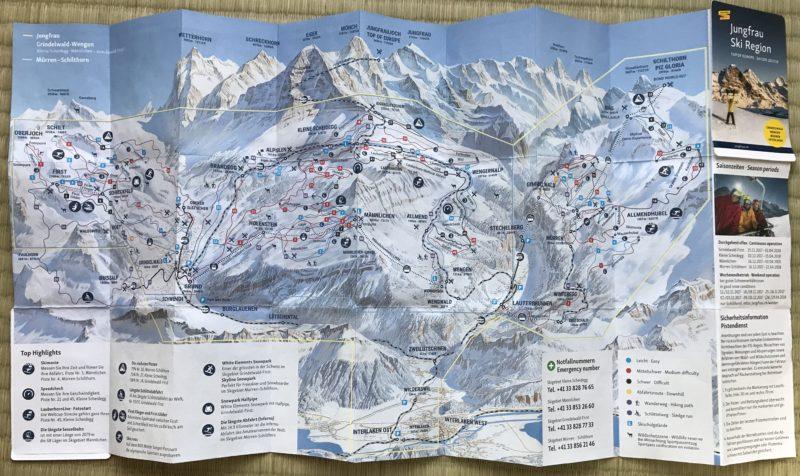 ゲレンデマップの写真