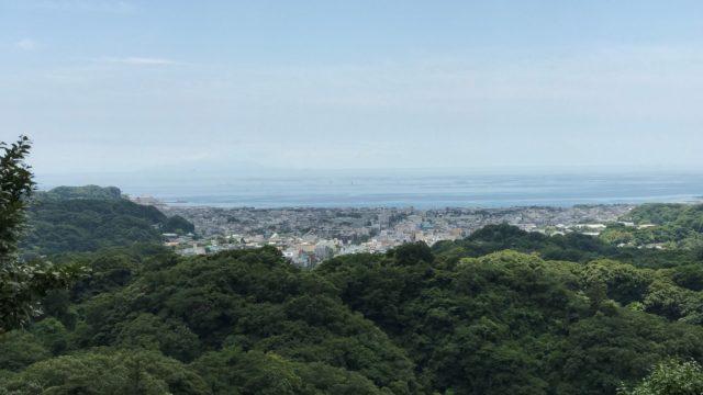 半僧坊から望む相模湾の写真